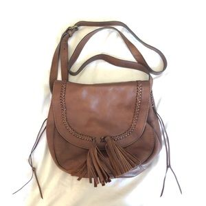 Lucky Brand Brown Leather Crossbody Satchel